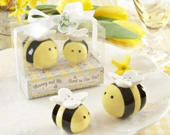 Ceramic Bee Salt & Pepper Shakers Wedding Favors Gift