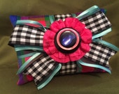 Handmade Organic Lavender Scented Sachet, Double Stacked with Gingham & Colorful Plaid Fabric II for the holidays