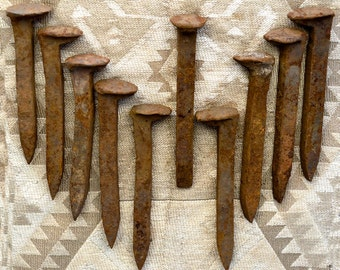 Vintage Railroad Spikes -- Ten from SW Colorado