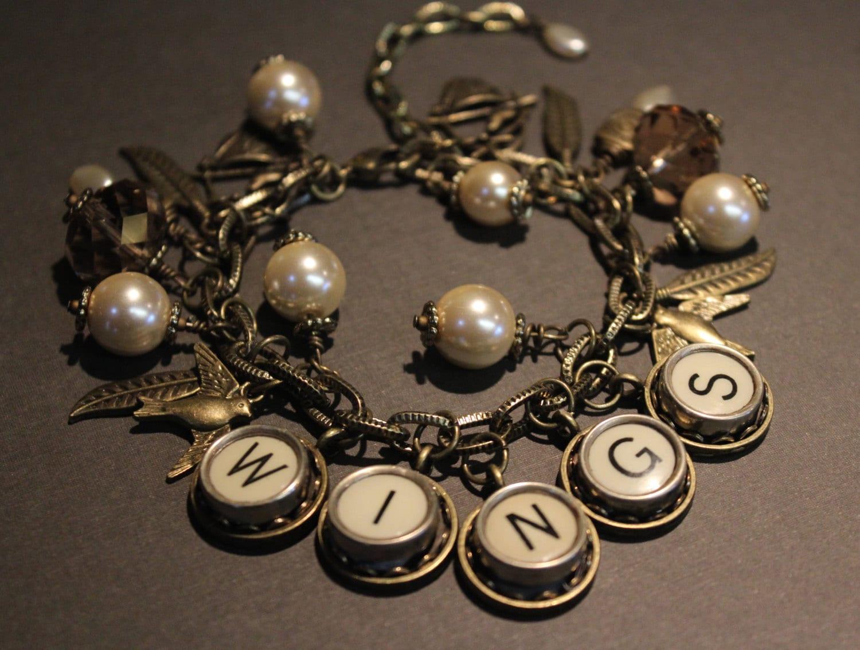 Vintage Typewriter Key Bracelet 82