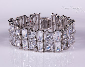 Crystal bracelet, Bridal bracelet, Rhinestone Bracelet, Swarovski Bracelet, Wedding bracelet, Bridal accessories, Prom, Crystal Bracelet b23