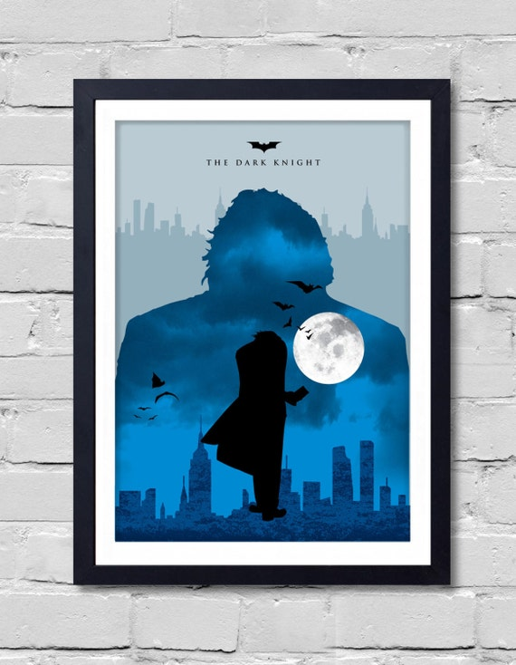 Batman dark knight poster home decor wall decor art by for Dark knight mural