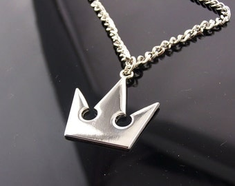 Silver Plated Kingdom Hearts Sora's Crown Necklace or Keychain