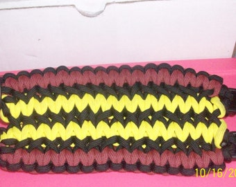 Two Double  Wide Soloman Bracelets weaved together