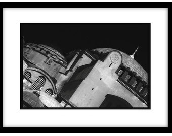 Ayia Sophia, Istanbul. Black and White Fine Art Photograph printed on 308gsm Hahnemuhle fine art paper (Unmatted)