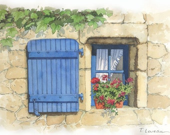 The window to the geraniums
