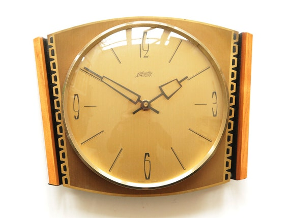 mid century atlanta kienzle wall clock germany modernist 50s