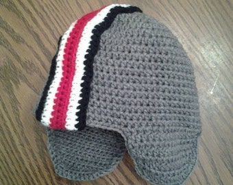 Ohio State Buckeyes hat! With or without braided ties and/or top pompom
