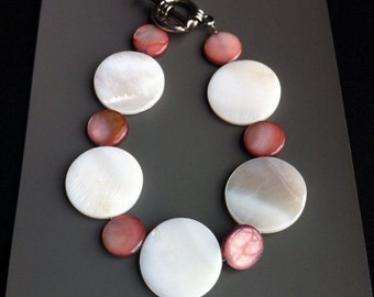 White and Pink Shells with Silver Tones