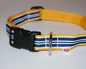 Adjustable Striped Large Dog Collar