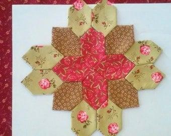 Hand Sewn Calico Flowers