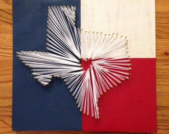 Texas String Art (12x12)
