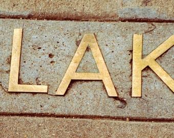 Blake Name in Brass  Canvas Print