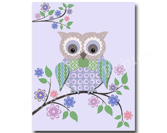 Kids wall art, owl nursery, baby boy owl decor, owl for boy room nursery art play room decor kids wall art children room decor nursery print