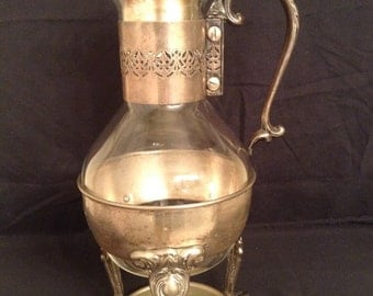 Vintage English Silver MFG Corp Carafe Beverage Warmer
