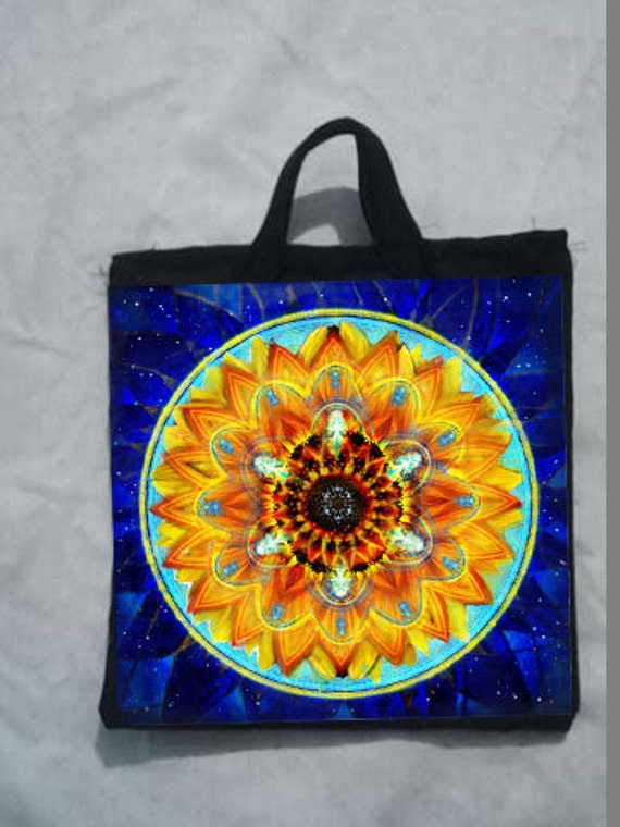 "Fine art Potholder ""Cosmic sunflower"""