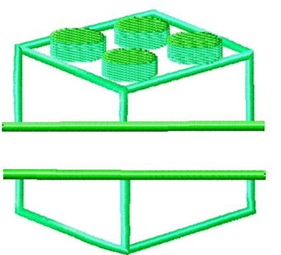 Machine Embroidery Design Lego Split Block Applique Instant