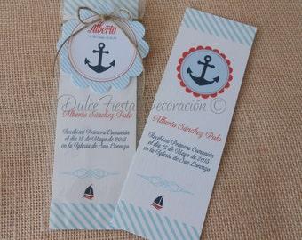 12 bookmarks first communion boy sailor