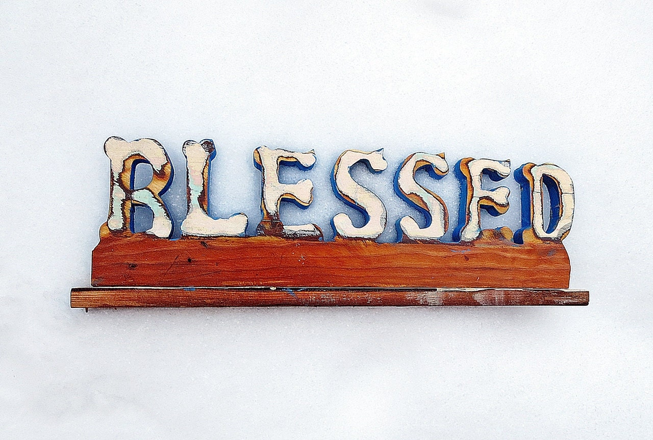 blessed sign religious home decor christian by woodwallcross