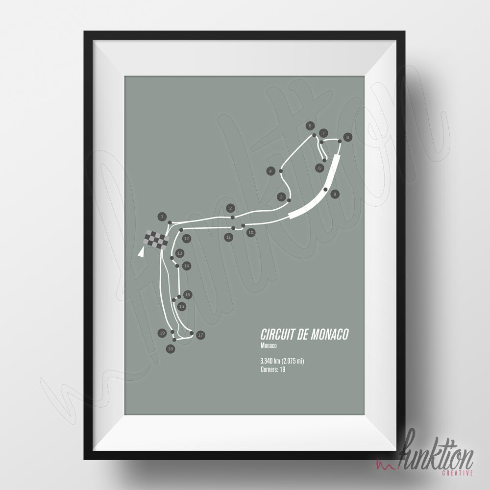 Circuit De Monaco Print Formula 1 Edition F1 Race Track