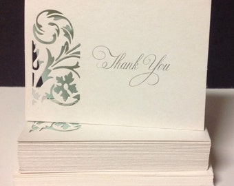 Thank You cards, 2 dozens Thanks You Wedding cards...Ready to Ship...Blank Thanks You Cards