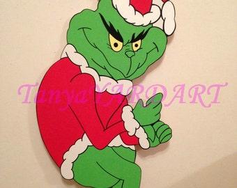 48 creeping grinch stealing christmas lights yard art decoration christmas decor 48 quot grinch stealing christmas lights