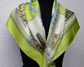 "Scarf ""Berlin"" from the silk weave, colours: pale green"