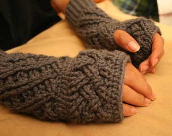 No-finger crochet gloves. Mittens Handmade