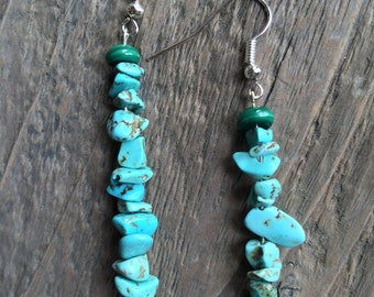 "The ""Haystack"" Earring, Turquoise-Stained Howlite"