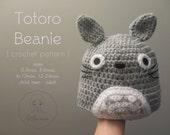 My Neighbor Totoro Beanie Hat Baby Child Boys Girls Teen Adult ~ Crochet Pattern Cosplay Cute Costume Babies Unisex Hayao Miyazaki Ghibli