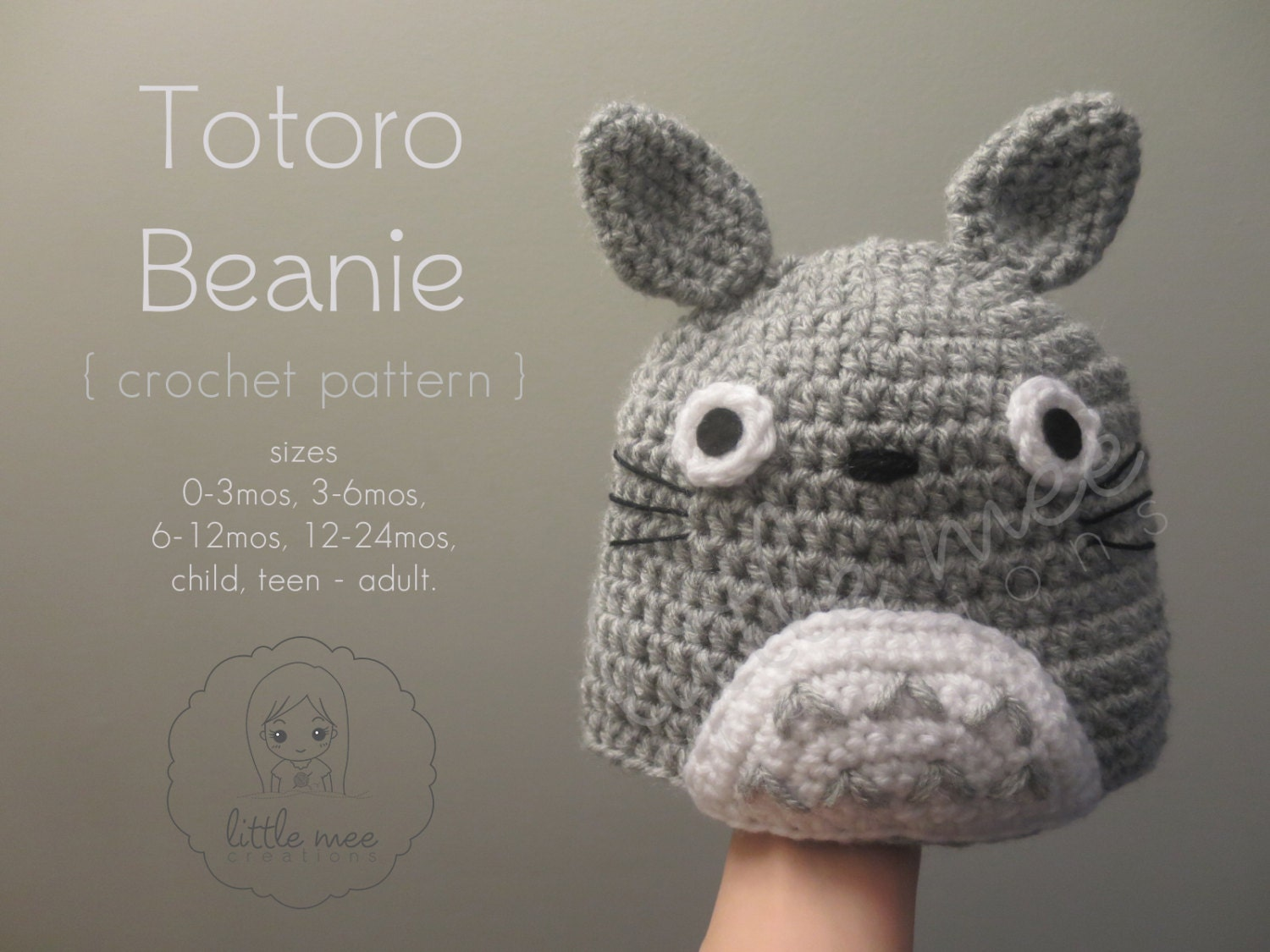 My Neighbor Totoro Beanie Hat Baby Child by LittleMeeCreations