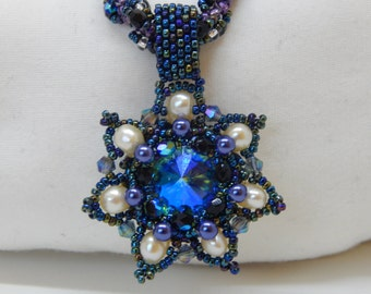 Shining Star Beaded Necklace and  Spiral Pendant