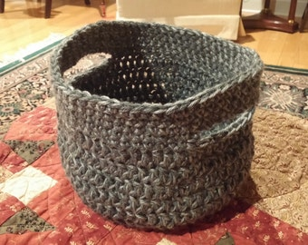Storage Basket, Storage Bin, Crochet Basket, Organizer, Storage Basket, Crochet basket With Handles