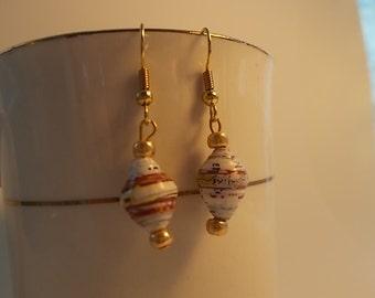 Paper Bead Earrings