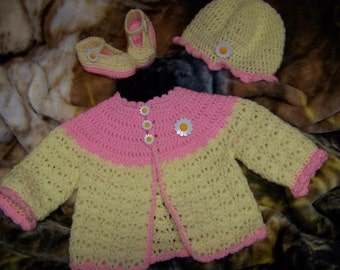 Daisy Baby Sweater Set
