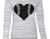 Slouchy Baseball Love Sweatshirt