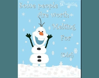 Olaf the Snowman  Frozen  Worth Mel ting For  Children s Christmas    Olaf The Snowman Melting