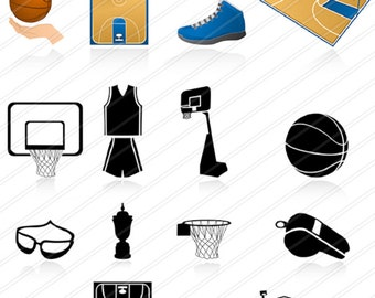 Basketball  clipart ,Clipart SPORTS, Instant Download, Sport Digital Clipart