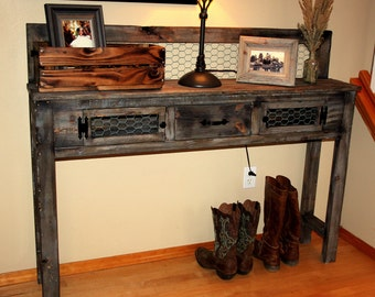 Rustic Better Than Reclamied Barnwood Entry/Accent Table