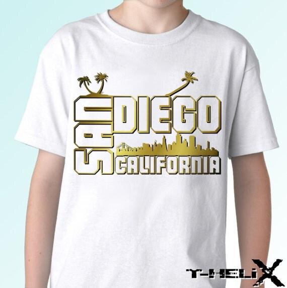 San diego new white t shirt city california us state print for Shirt printing san diego