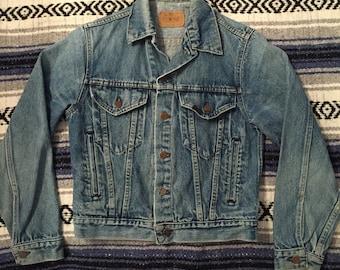Vintage 80s Sears Roebucks Denim Jacket Size 34(XS) Made In USA