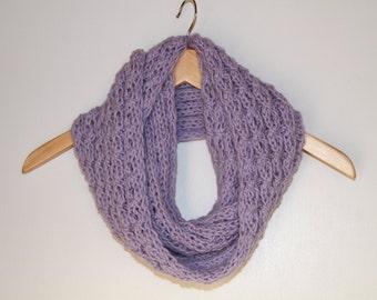 Lavendar Infinity Knit Cowl Scarf