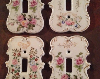 CERAMIC SWITCHPLATES - Floral Designs