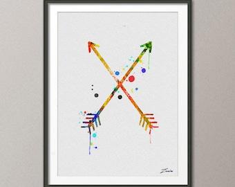 arrow watercolor art, arrow decor, arrow wall hanging, watercolor painting, Arrow poster, arrow print, arrow painting, arrow art -A082