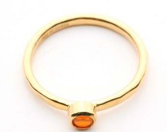Gold Vermeil Carnelian Stacking Ring