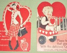 2 Vintage Candy Lolli Pop Lollipop Valentine Cards by E. Rosen Co.