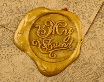 My Friend Wax Seal Stamp Party stamp Wax Seal Alphabet Wax seal Wax Stamp sealing wax stamp set