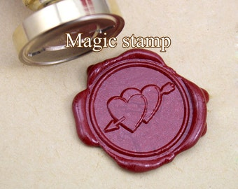 An arrow through two heart--1Pcs Custom Wax Seal Stamp, wedding stamp ,party wax seal stamp,initial wax seal stamp(DZ034)