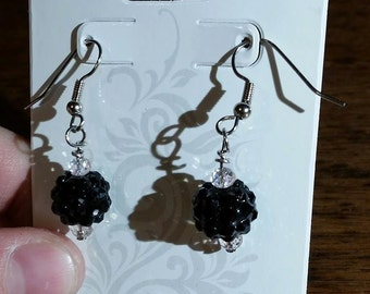 Black Shimmer Earrings