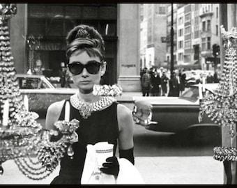Audrey Hepburn - Window Shopping Poster Framed